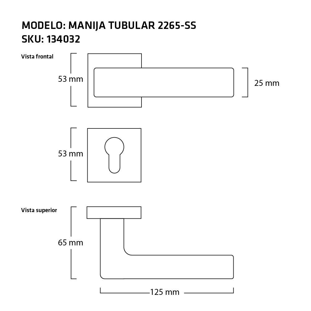 MANIJA 2265 SS MEDIDAS