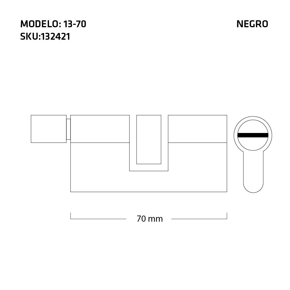 cilindro medidas negro