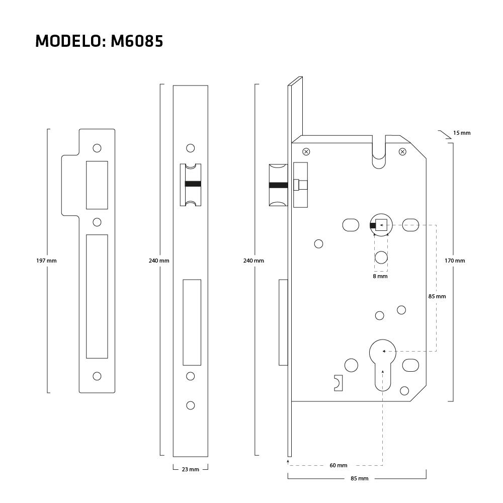 MECANISMO M6085 MEDIDAS