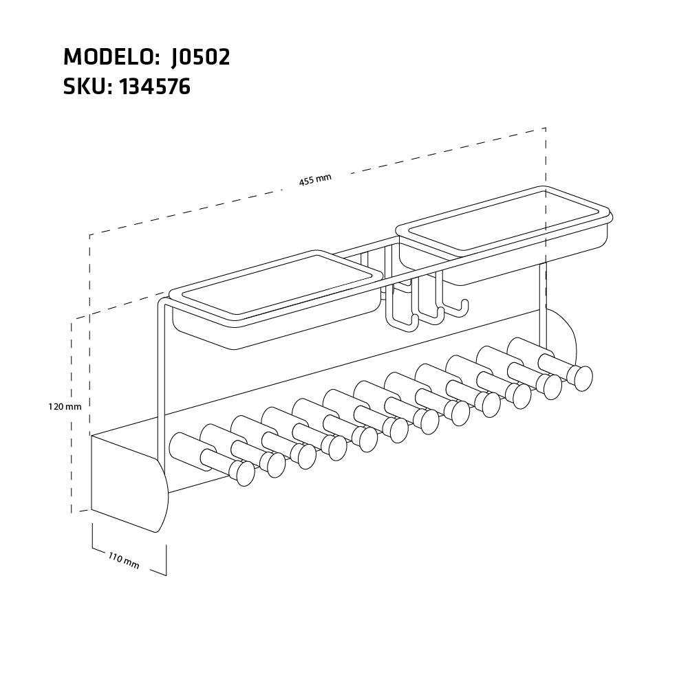 CORBATERO J0502  MEDIDA