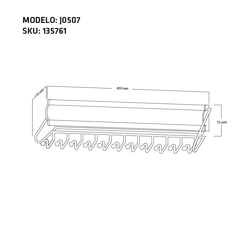 CORBATERO J0507 MEDIDAS